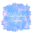 Watercolor isolated background vector image
