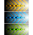 Colourful banners with arrows vector image vector image