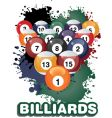 billiards vector image vector image