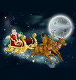 santa on delivering gifts on christmas eve vector image
