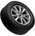 automobiles alloy wheel isolated vector image