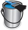 blue paint vector image