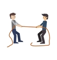 businessmen pulling rope icon vector image