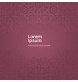 Arabic ornament Design template vector image