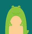 Cute big fat frog vector image