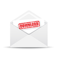 download white envelope vector image