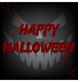 Happy Halloween Bloody Card Devil Face vector image
