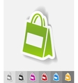 realistic design element bag vector image