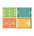 set concept icon court sport vector image