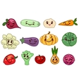 Vegetables kawaii characters vector image