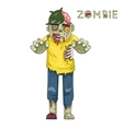 Halloween Party Zombie Role Character Bust Icons vector image vector image