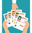 hand human resorces recruit desing isolated vector image