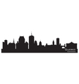 Quebec Canada skyline Detailed silhouette vector image vector image