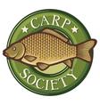 Carp society symbol vector image vector image