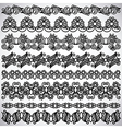 black flower ornament vector image vector image