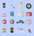 auto transport motorist icons symbol vehicle vector image