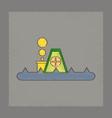 flat shading style icon flood house vector image
