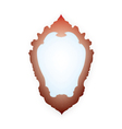 Mirror with frame vector image