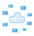 Modern cloud technology computer network vector image vector image