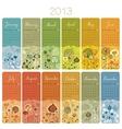 2013 Calendar Set vector image