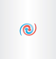 people connection spiral logo icon vector image