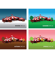seasonal circus backgrounds vector image vector image