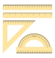 Rulers and Protractor vector image vector image