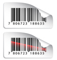 barcode stickers vector image