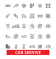 car service mechanic engine parts wash tires vector image