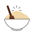 cereal dish with spoon vector image
