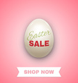 Easter sale background with egg vector image