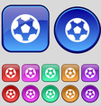 Football soccerball icon sign A set of twelve vector image