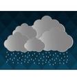gray cloud icon design vector image