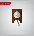 isolated pendulum flat icon clock element vector image
