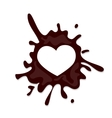 Realistic chocolate heart splash vector image