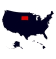 South Dakota State in the United States map vector image