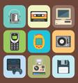 vintage technologies retro audio multimedia vector image