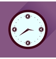 Flat icon with long shadow time is money vector image