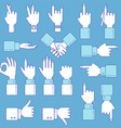 Hands line design set vector image
