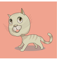Cute funny cat on pink background vector image vector image