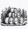 vintage barrel engraving ephemeral vector image vector image