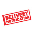 delivery notification rubber stamp vector image