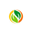 green leaf recycle logo vector image