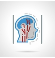 Head blood supply abstract flat icon vector image
