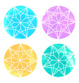 Set of 4 watercolor diamonds on white background vector image