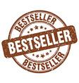 Bestseller brown grunge round vintage rubber stamp vector image