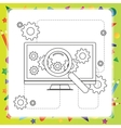 Coloring book computer - vector image