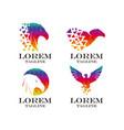eagle logo set vector image