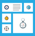 flat icon direction set of geography navigation vector image