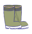 rubber boots object to protection feet vector image